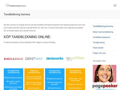 Tandblekningstest.se - http://www.tandblekningstest.se