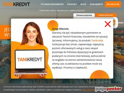 TaniKredyt - pożyczka chwilówka bez odsetek