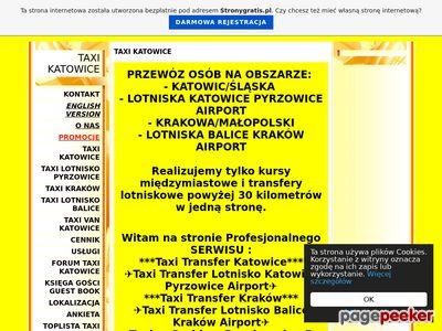 Taxi Transfery Katowice Silesia Pyrzowice Kraków Balice