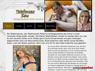 Telefonsex Sau - Das versaute Telefonsex Portal