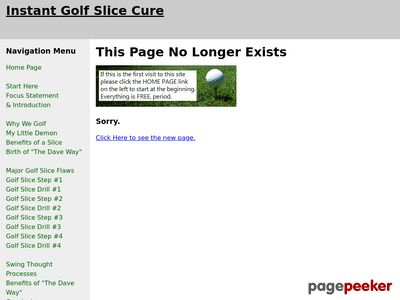 Instant Golf Slice Cure -
