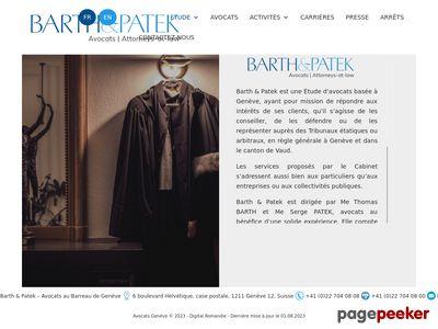 Thomas Barth, avocat au Barreau de Genève - A visiter!
