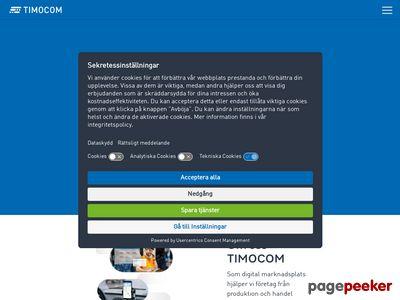 Skärmdump av timocom.se