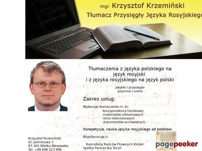Tłumacz przysięgły języka rosyjskiego Toruń