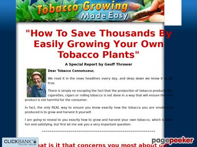 Tobacco Growing Made Easy – How to Grow your Own Tabocco and Roll Smoke at Home