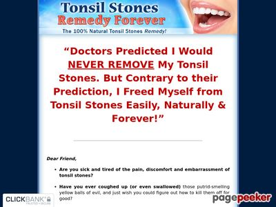 Tonsil Stones Remedy Forever – The 100% Natural Tonsil Stones Remedy!