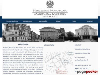 KANCELARIA NOTARIALNA W TORUNU Magdalena Kasperska