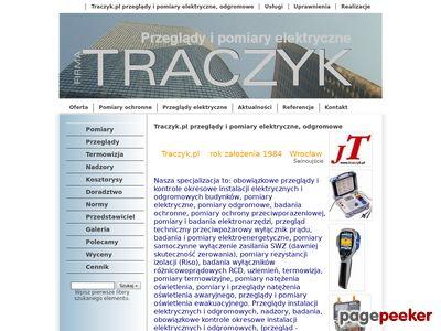 Traczyk.pl - Instalacje, elektryczne, pomiary, klimatyzacja, sufit podwieszany, papa termozgrzewalna, roboty budowlano-montazowe, uslugi - Wroclaw