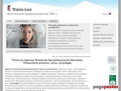 Tłumaczenia w Warszawie - Trans-Lex
