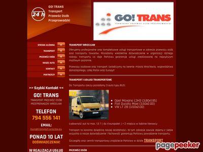 Transport Wrocław Przewóz osób Przeprowadzki GO! TRANS