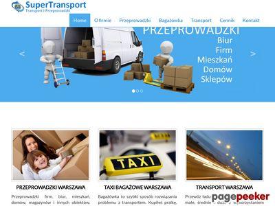 Usługi transportowe, przeprowadzki firm