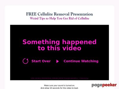 Truth About Cellulite Video Presentation – Truth About Cellulite
