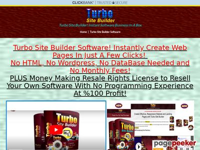 Turbo Site Builder Software – Resale Rights