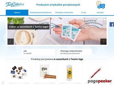 Porcjowane produkty - cukier, sól w saszetkach