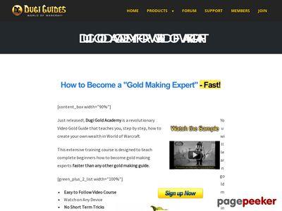 Dugi Gold Academy for World of Warcraft – Dugi Guides™