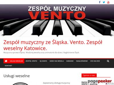 Zespół na wesele w Bytomiu. www.uslugiweselne.pl