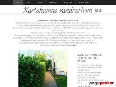 Skärmdump av vandrarhemkarlshamn.se