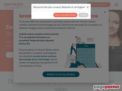 Versum | efektywne zarządzanie salonem
