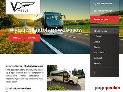 Autokary, wynajem busów Visbus.pl
