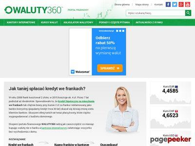 Porównywarka kantorów internetowych - waluty360.pl