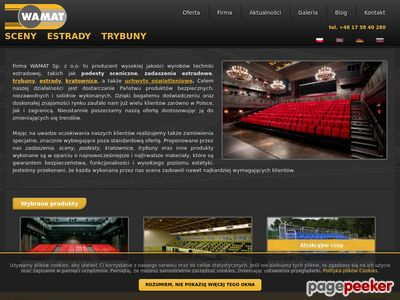 Www.wamat.com.pl | Trybuny teleskopowe, estrady