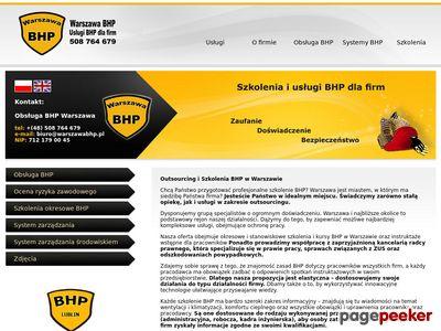 Kursy BHP Warszawa