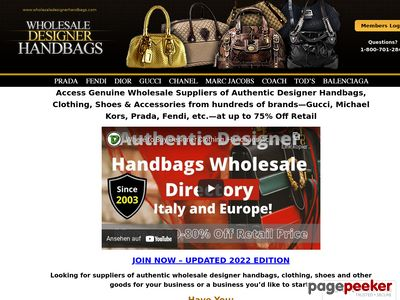 Authentic Wholesale Designer Handbags, Clothing, Shoes