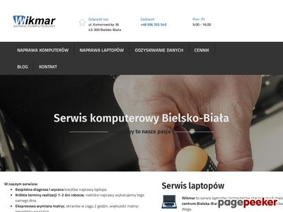 Wikmar - Serwis komputerowy Bielsko, laptopów Bielsko, pogotowie komputerowe.