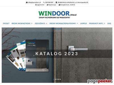 WIN DOOR drzwi przesuwne wewnętrzne