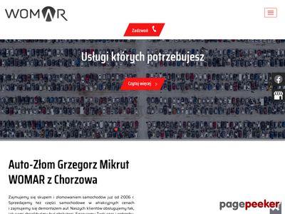 WOMAR złomowanie pojazdów Sosnowiec
