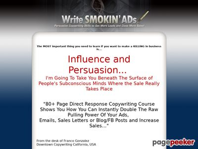 Copywriting Training - Franco Gonzalez's How To Write Smokin Ads - Copywriting Course.