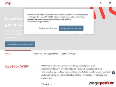 Skärmdump av wspgroup.se