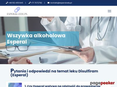 Praktyka lekarska - esperal Kraków