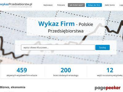 Wykaz przedsiębiorstw - internetowy katalog