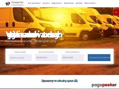 TRANSPOST SPÓŁKA AKCYJNA wypożyczalnia aut dostawczych