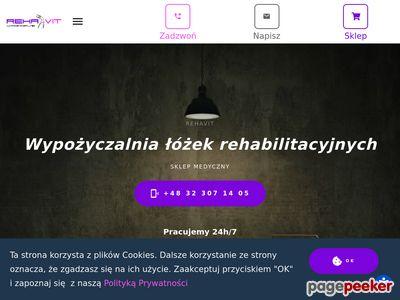 Wypożyczalnia łóżek rehabilitacyjnych śląsk REHAVIT