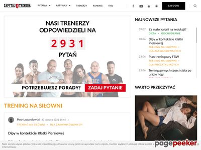 Ćwiczenia na plecy zapytajtrenera.pl