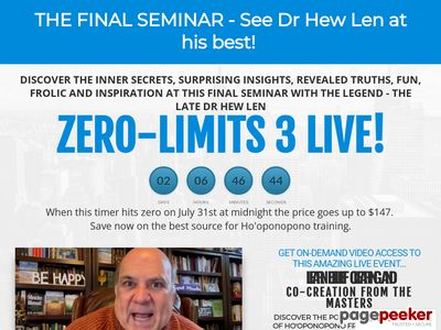 """The Official Website for the Amazing new book by Dr. Joe Vitale and Dr. Ihaleakala Hew Len, titled """"Zero Limits."""""""