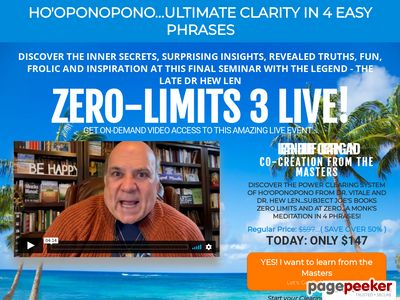 "The Official Website for the Amazing new book by Dr. Joe Vitale and Dr. Ihaleakala Hew Len, titled ""Zero Limits."""