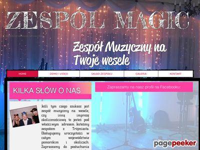 Zespół muzyczny Magic - na wesele - pomorskie