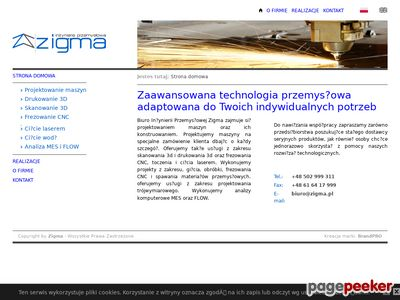 Zigma - druk 3d, skan 3d, projekty maszyn