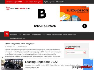 Promocyjne gazetki w serwisie internetowym www.znajdzpromocje.pl
