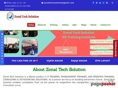 Read more about: http://www.zonaltechsolution.com/
