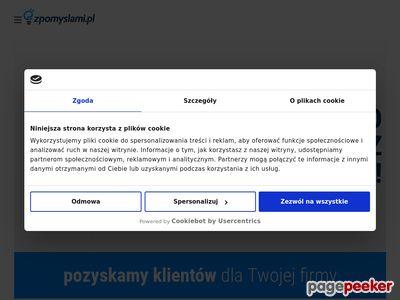 Zpomyslami.pl | reklama, strony www, poligrafia, identyfikacja wizualna, wydruki wielkoformatowe