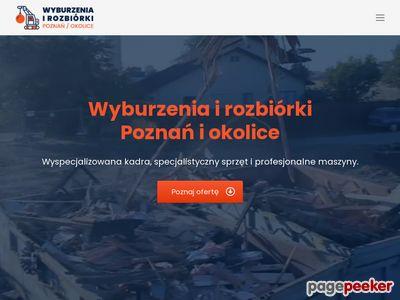 Rozbiórka budynków, wyburzenia Poznań, roboty ziemne