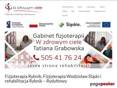 Gabinet fizjoterapii - W zdrowym ciele