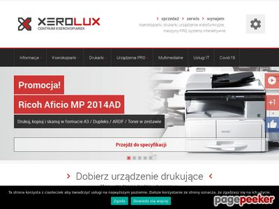 Wynajem kserokopiarki - xerolux.pl