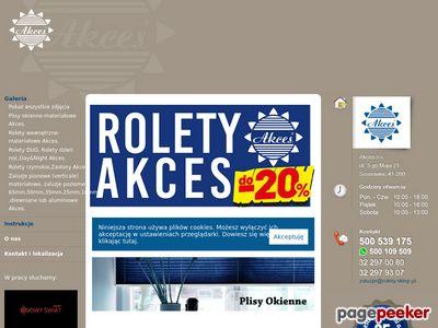 Rolety materialowe Katowice akces