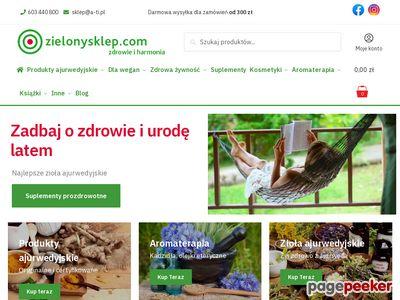 Sklep ekologiczny Kraków, zdrowa żywność, ajurweda, kuchnia wegetariańska, zioła, kosmetyki – zielonysklep.com