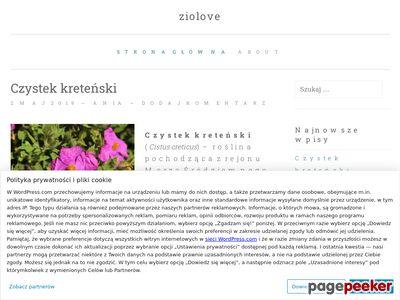 ziolove.wordpress.com - Blog tematyczny o ziołach